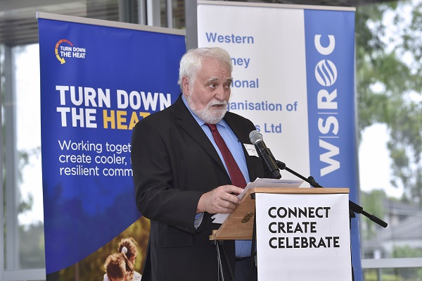 WSROC President Cr Barry Calvert launching the Turn Down the Heat Strategy