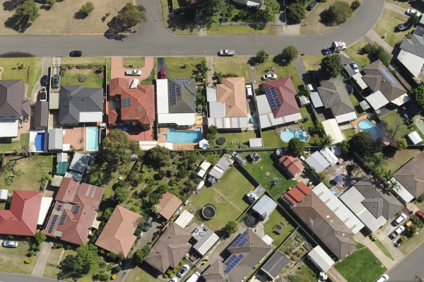 Aerial photo of Western Sydney suburb