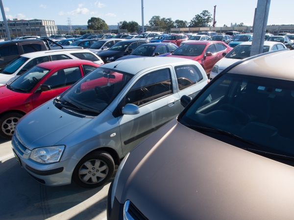Full commuter car park in Western Sydney.