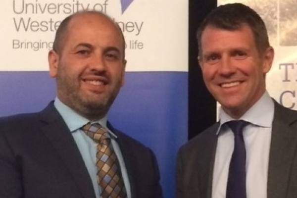 WSROC President Cllr Tony Hadchiti with NSW Premier Mike Baird