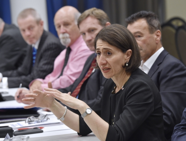 NSW Premier the Hon. Gladys Berejiklian speaking to the WSROC Board of Directors.