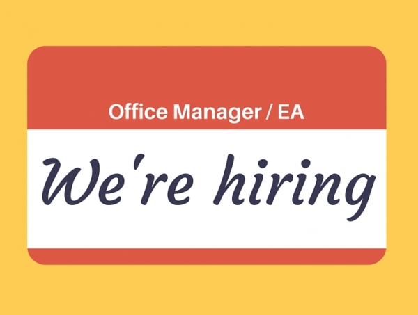 Position vacant: Office Manager / Executive Assistant