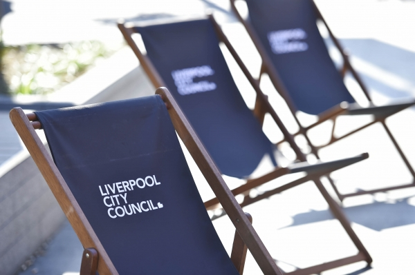 Liverpool City Council deck chairs.