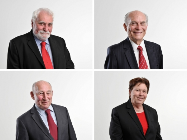 WSROC Executive (Clockwise from top left): President Cr Barry Calvert, Senior Vice President Cr George Campbell, Treasurer Cr Karress Rhodes and Junior Vice President Cr Don McGregor.