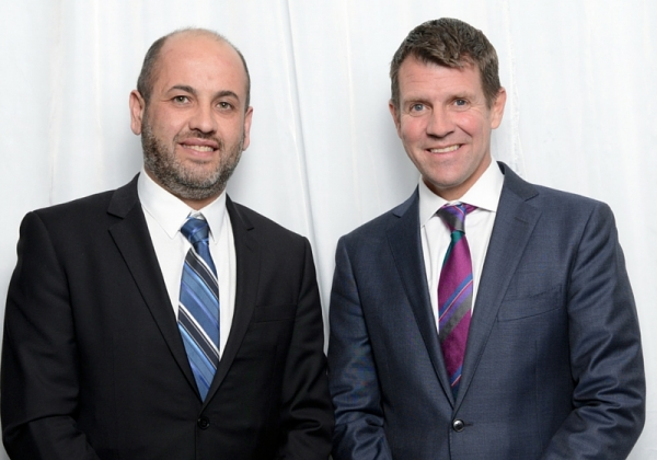WSROC President Tony Hadchiti and NSW Premier Mike Baird