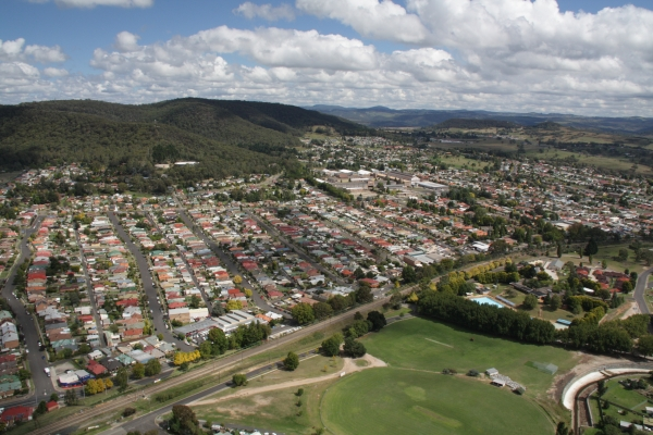 Lithgow aerial image