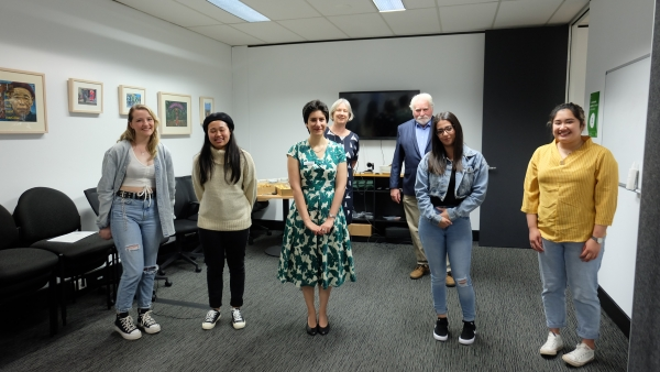 Competition winners and runners-up with Project Coordinator Reyhaneh Behboudi, President Barry Calvert and Dr Allison Gill, Western Sydney University Director of Design Program