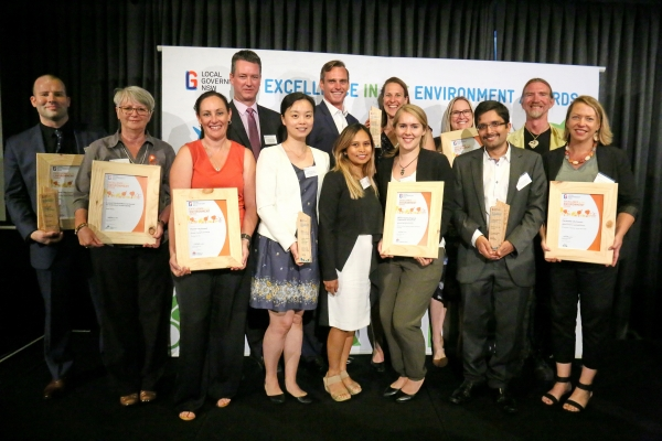 Western Sydney council award winners at the LGNSW Excellence in the Environment Awards, 2016.