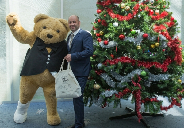 WSROC President meets Bandaged Bear